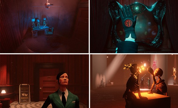 "Screenshots from Day for Night Games' project ""The Black Glove"""